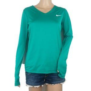 Nike Dri-Fit Teal Victory LS Shirt